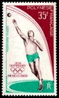 POLYNESIE 1968 - Yv. PA 26 **   Cote= 20,00 EUR - Jeux Olympiques De Mexico  ..Réf.POL23575 - Posta Aerea