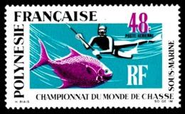 POLYNESIE 1969 - Yv. PA 29 **   Cote= 52,00 EUR - Championnats Du Monde De Chasse Sous-marine  ..Réf.POL23581 - Poste Aérienne