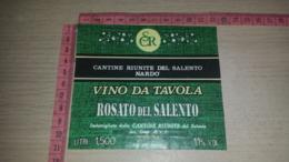 ET-1777 NARDO CANTINE RIUNITE DEL SALENTO ROSATO DEL SALENTO - Etiquettes