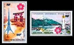 POLYNESIE 1970 - Yv. PA 32 Et 33 **   Cote= 72,00 EUR - Expo Univ. Osaka, Au Japon (2 Val.)  ..Réf.POL23585 - Luftpost