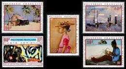 POLYNESIE 1970 - Yv. PA 40 41 42 43 Et 44 ** SUP  Cote= 110,00 EUR - Tableaux D'Artistes Polyn. (5 Val.)  ..Réf.POL23591 - Luftpost