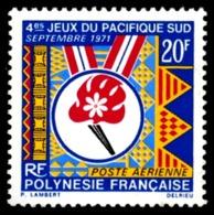 POLYNESIE 1971 - Yv. PA 45 NEUF   Cote= 9,50 EUR - Jeux Du Pacifique-Sud  ..Réf.POL23594 - Airmail