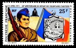 POLYNESIE 1971 - Yv. PA 47 *   Cote= 13,00 EUR - Départ Des Volontaires Polynésiens  ..Réf.POL23598 - Airmail