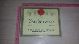 ET-1786 BARBARESCO SEBASTIANO MUSSO AZIENDA VINICOLA VINO BARBARESCO - Etiquettes