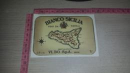 ET-1792 VI.BO. SPA BRONI BIANCO SICILIA VINO DA TAVOLA - Etiquettes