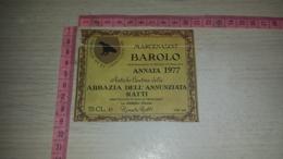 ET-1799 MARCENASCO BAROLO ANNATA 1977 ABBAZIA DELL'ANNUNZIATA RATTI LA MORRA - Etiquettes