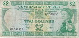 BILLETE DE FIJI DE 2 DOLLARS DEL AÑO 1974   (BANKNOTE) RARO - Fidji