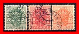 SUECIA .. SVERIGE (EUROPA ) 3 SELLOS  AÑO 1881 – 1895 - Suecia