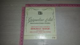 ET-1808 ISOLA D'ASTI FRAZIONE SAN PIETRO BRIGNOLO SERGIO GRIGNOLINO D'ASTI - Etiquettes