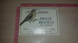 ET-1813 GIRELLI SPA TRENTO IL PASSERO PINOT BIANCO DEL VENETO - Etiquettes