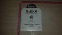 ET-1814 CANALE D'ALBA LUCIANO AQUINO CAVALETTO BAROLO 1975 - Etiquettes