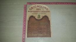 ET-1822 MONFERRATO CASALESE CANTINA PREMIATA CON TORCHIO D'ORO GRIGNOLINO DEL MONFERRATO CASALESE LUIGI BREZZA - Etiquettes