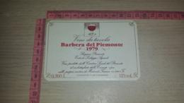 ET-1826 MORIONDO TORINESE CANTINE SOCIALI DEL PIEMONTE BARBERA DEL PIEMONTE 1979 - Etiquettes