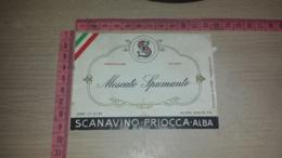 ET-1828 SCANAVINO PRIOCCA ALBA MOSCATO SPUMANTE - Etiquettes