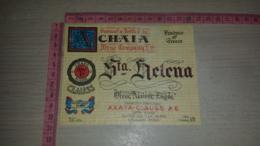 ET-1802 CHAIA WINE COMPANY & CO. STA. HELENA GRECIA GREECE - Etiquettes