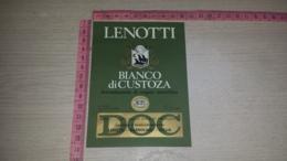 ET-1803 LENOTTI BIANCO DI CUSTOZA CANTINE D'INVECCHIAMENTO BARDOLINO - Etiquettes