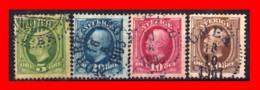 SUECIA .. SVERIGE (EUROPA ) 4 SELLOS  AÑO 1981 – 1903 KING OSCAR II - Suecia