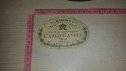 ET-1835 CANELLI F.LLI GANCIA & C. GRAN RISERVA DEL FONDATORE CARLO GANCIA BRUT - Etiquettes