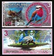 Aldabra Island (Seychelles) - 3 Dollars 2017 UNC - Seychelles