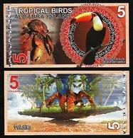 Aldabra Island (Seychelles) - 5 Dollars 2017 UNC - Seychelles