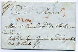 Petite Poste De PARIS / Port DU Bureau F -8ème Levée / Quantième 21 / Ccahet Facteur Au Verso F6 / 1787 - Marcophilie (Lettres)