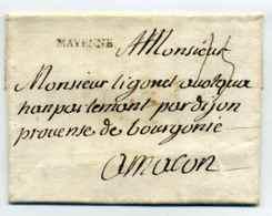 MP  MAYENNE Lenain N°2 / Dept 51 Maine / Cachet De Cire Au Verso - Marcophilie (Lettres)