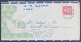 JAPAN Postal History, 80 C Birds Aerogramme Stationery, Used 14.12.1992 - Interi Postali