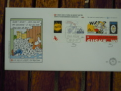 FDC Suske & Wiske Bob Bobette Vandersteen Strip BD Comic Cartoon - FDC