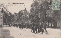 CPA Chaumont - Le 109e Et Son Drapeau (belle Animation) - Chaumont