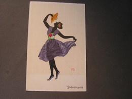 Tänzerin Mit Fächer  * Fasto Künstler AK - Künstlerkarten