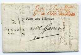 Franchise /  Conseiller D'Etat Directeur Général De L'Administration Des Postes / Postes Aux Chevaux / 1817 - 1801-1848: Precursors XIX