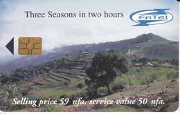 TARJETA DE ERITREA DE THREE SEASONS IN TWO HOURS 50 NFA  (ERITEL) - Eritrea