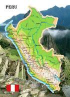 AK Peru Landkarte Country Map New Postcard - Peru