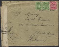 Belgium 1917 Cover Ste Adresse 4-Jul-1917 To Amsterdam Netherlands 28-Aug-1917 Censor France 0, 18, 20 Dieppe WWI - 1915-1920 Alberto I