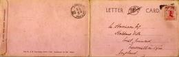 1910 , NUEVA ZELANDA , POSTAL PANORÁMICA CIRCULADA EN TRES TRAMOS , CHRISTCHURCH - NEWCASTLE ON TYNE - 1907-1947 Dominion