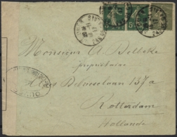 France 1917 Cover St Omer 18-Nov-1917 To Rotterdam Netherlands 14-Dec-1917 Censor France 0, 4 And 24 Dieppe WWI - Prima Guerra Mondiale