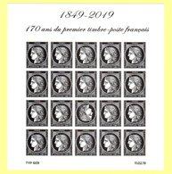 1849 - 2019 : 170 Ans Du 1er Timbre Poste Français Cérès - Bloc Incluant Un Tête Bèche - Neufs