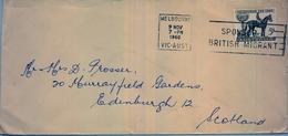 1960 , AUSTRALIA , MELBOURNE - EDINBURGH , FR. MELBOURNE CUP , CABALLOS , HORSES , HIPICA - 1952-65 Elizabeth II: Ediciones Pre-Decimales