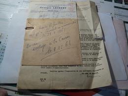 VIEUX COURRIERS DE 1961 ENTRE LES ETABLISSEMENTS GEORGES LAURENT ET LA CAF DE PARIS RECLAMATION SUITE - 1950 - ...