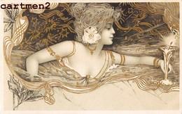 BELLE CPA ILLUSTRATEUR ART NOUVEAU STYLE KIRCHNER 1900 - Illustratoren & Fotografen