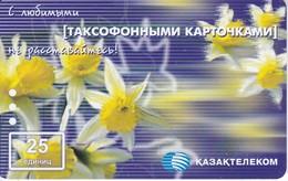 TARJETA DE KAZAJISTAN DE 25 UNITS DE UNA FLOR (FLOWER) - Flores