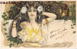 BELLE CPA ILLUSTRATEUR ART NOUVEAU STYLE KIRCHNER MUCHA 1900 - Illustratoren & Fotografen