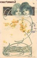 BELLE CPA ILLUSTRATEUR ART NOUVEAU STYLE KIRCHNER MUCHA 1900 - Ilustradores & Fotógrafos