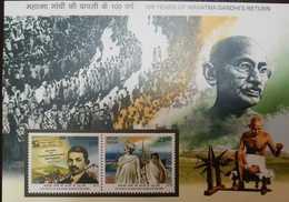 L) 2015 INDIA, 100 YEARS OF MAHATMA GANDHIS RETURN, BOAT, MNH - India