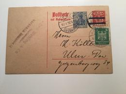 GÄ38657 Deutsches Reich Ganzsache Stationery Entier Postal P 139I Von Nürnberg Nach Ulm - Deutschland