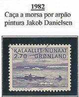 LSJP GREENLAND HUNTING THE PURPLE HARVEST PAINTING JAKOB DANIELSEN 1982 - Greenland