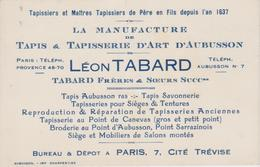 PARIS  ~~  LA MANUFACTURE TAPIS & TAPISSERIE  ~~  LEON TABARD - Advertising