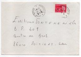 """1976---Lettre Pour Poitiers-86- Beau Cachet  Ambulant """"Bordeaux à Paris Rapide --B -   """"-  Type Marianne Béquet - Marcophilie (Lettres)"""