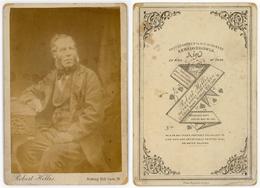 CABINET CARD - A Seated Gentleman By Robert Hellis, Notting Hill LONDON - Alte (vor 1900)