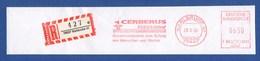 BRD AFS - Karlsruhe, Cerberus Ristow - Sicherheitstechnik Zum Schutz ... 1996 + R-Zettel - Marcophilie - EMA (Empreintes Machines)